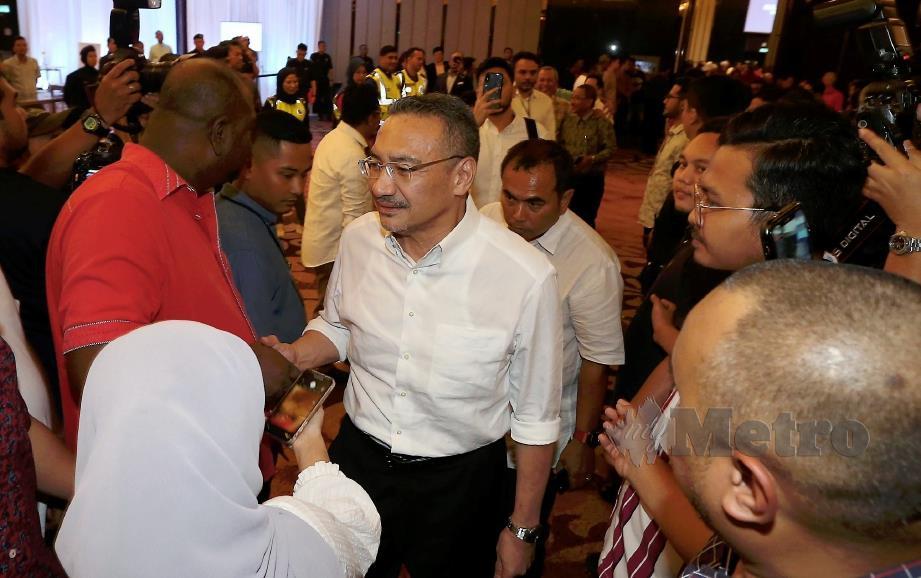 DATUK Seri Hishammudddin Hussein hadir ke Majlis Makan Malam: Muafakat Ahli Parlimen. FOTO Hairul Anuar Rahim
