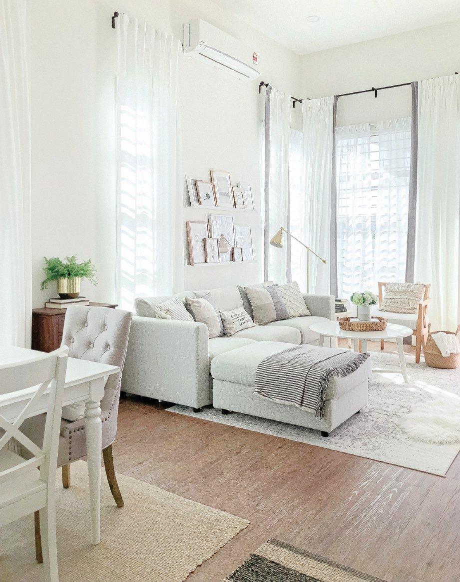 PADUAN warna putih memberi visual luas. FOTO Ihsan Home Chapter & Nusaibah Ab Aziz