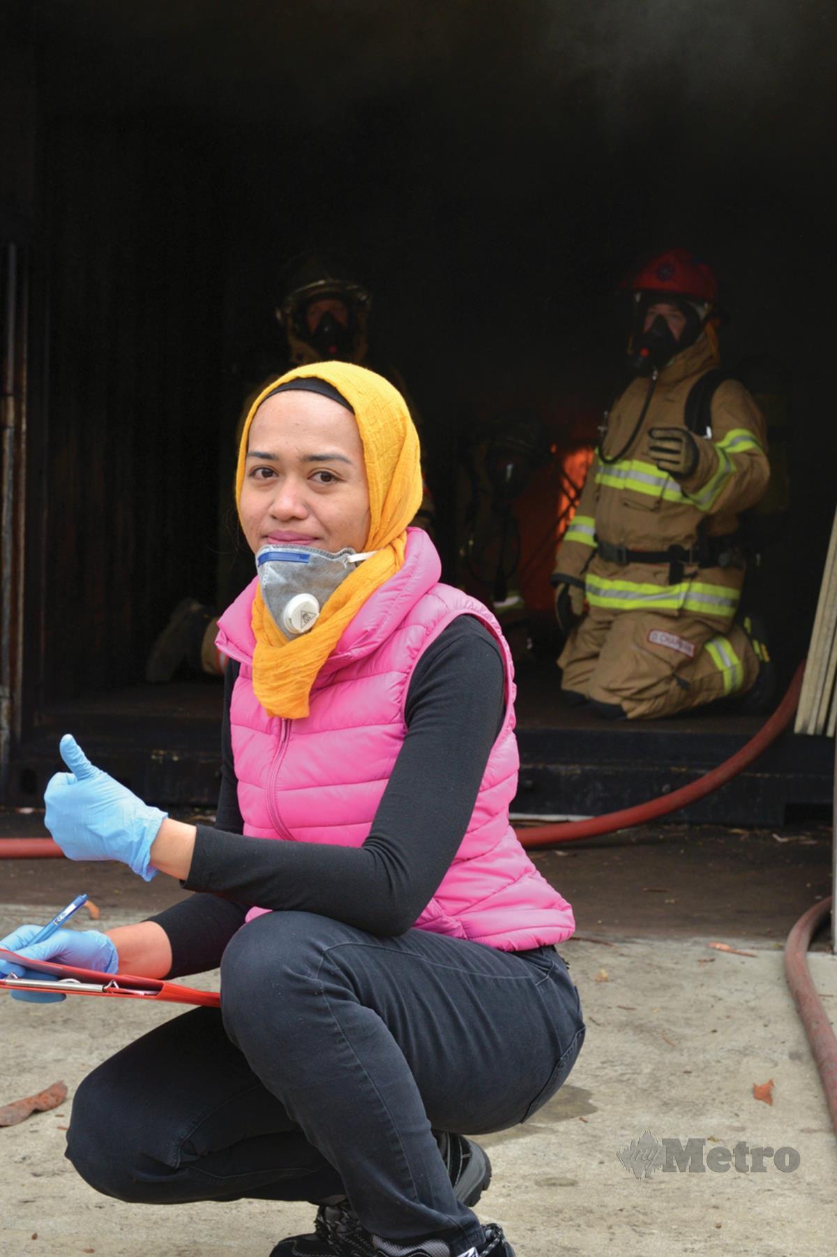 DR Rabiah terbabit dalam simulasi identifikasi mangsa kebakaran dan berkolaborasi dengan South Australian Police, South Australian Country Fire Service dan South Australian Metropolitan Fire Service.
