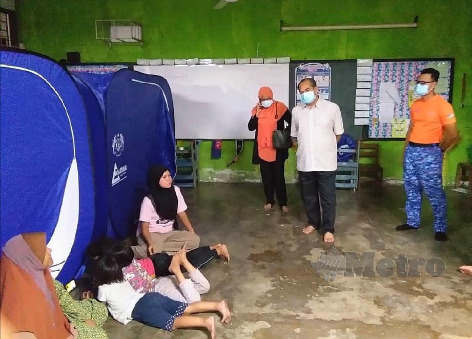 MANGSA banjir yang dipindahkan ke PPS di Bagan Serai. FOTO Ihsan Jawatankuasa Pengurusan Bencana Daerah Kerian