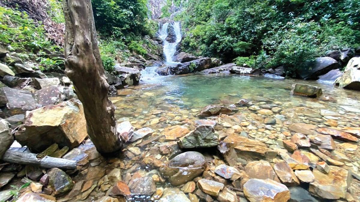 ANTARA kolam kecil yang boleh dinikmati pengunjung.