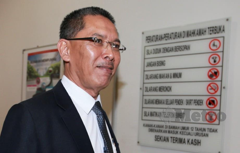 KETUA Jabatan Perubatan Forensik HKL, Datuk Dr Mohd Shah Mahmud hadir untuk inkues menentukan punca kematian anggota bomba, Muhammad Adib Mohd Kassim di Kompleks Mahkamah Shah Alam. FOTO Sairien Nafis