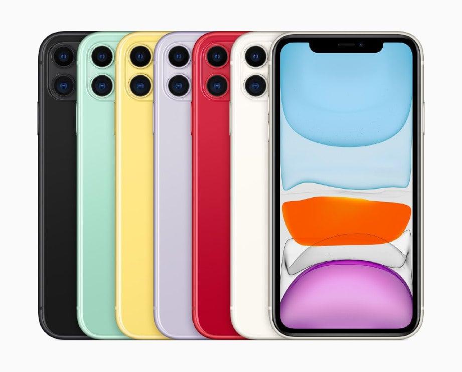 IPHONE 11 akan dipasarkan di Malaysia bermula dengan RM3,399. -Foto Apple Inc