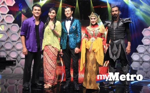 (Dari kiri) Arja Lee, Siti Elizad, Nazim Othman, Sherry Ibrahim dan Soffi. FOTO arkib NSTP