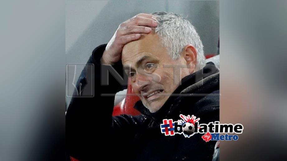 Mourinho berdepan tekanan selepas tewas kepada Liverpool. FOTO REUTERS