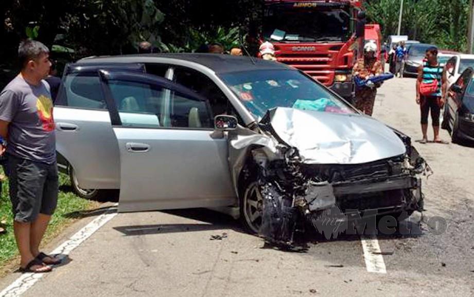 Seorang pemandu maut manakala 14 lagi cedera, termasuk enam parah dalam kemalangan di Batu 4, Jalan Tapah-Cameron Highlands. FOTO Ihsan PDRM