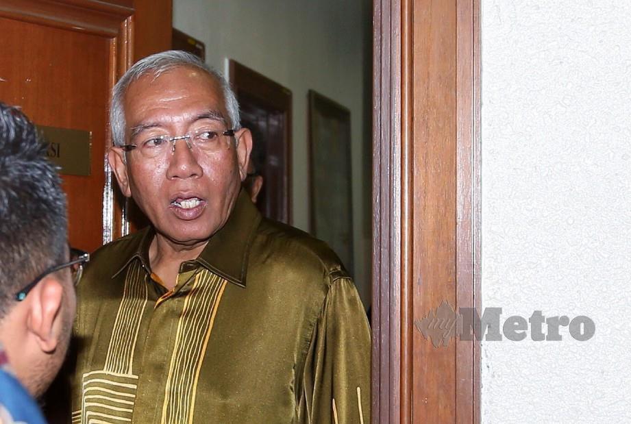 MAHDZIR  hadir pada perbicaraan kes rasuah Isteri bekas Perdana Menteri, Datin Seri Rosmah Mansor berhubung projek tenaga solar di sekolah luar bandar Sarawak di Mahkamah Tinggi, Jalan Duta. FOTO ASWADI ALIAS