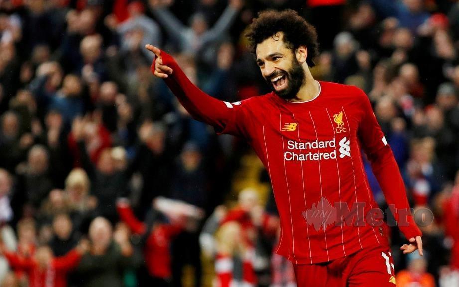 Mohamed Salah penjaring terbanyak Liverpool setakat ini. FOTO Reuters