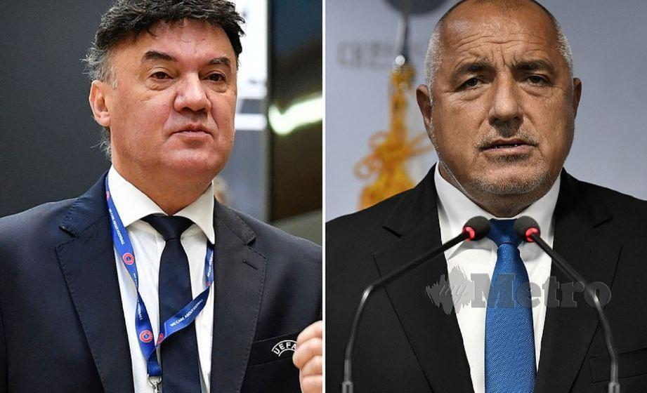 Borissov (kanan) desak Mihaylov letak jawatan. FOTO Agensi