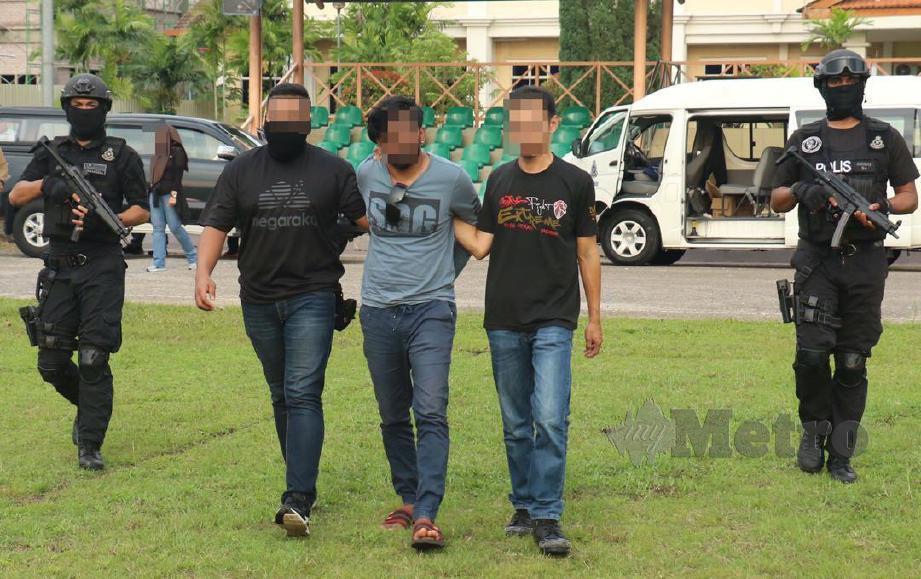 ANTARA individu yang ditahan dipercayai mempunyai kaitan dengan kumpulan pengganas LTTE. FOTO ihsan PDRM