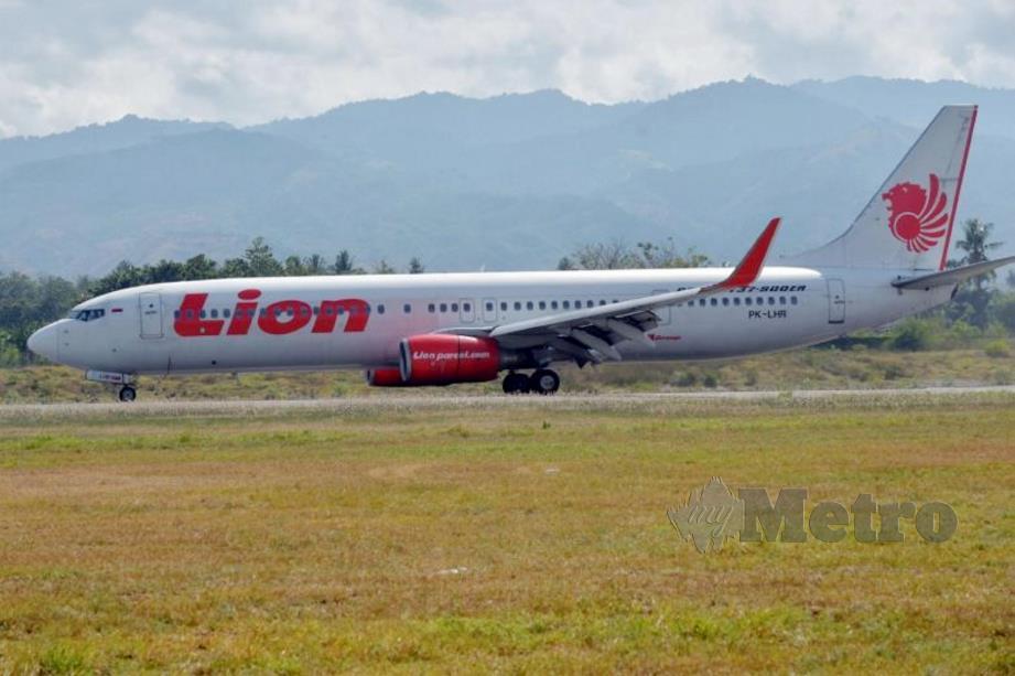 KAPAL terbang Lion Air.