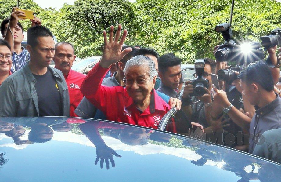 TUN Dr Mahathir Mohamad. FOTO Aswadi Alias