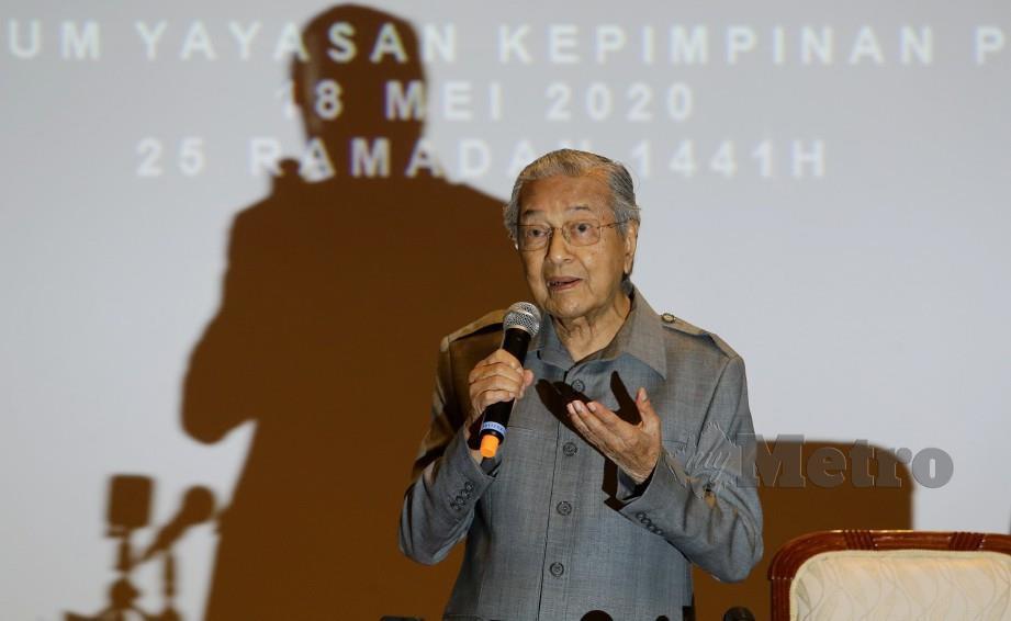 TUN Dr Mahathir Mohamad. FOTO NSTP