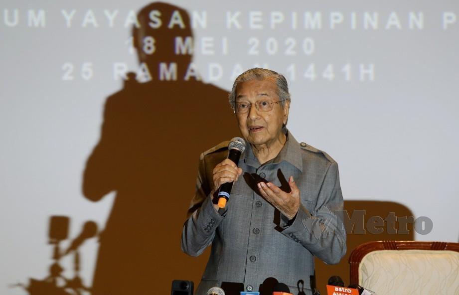 TUN Dr Mahathir Mohamad.