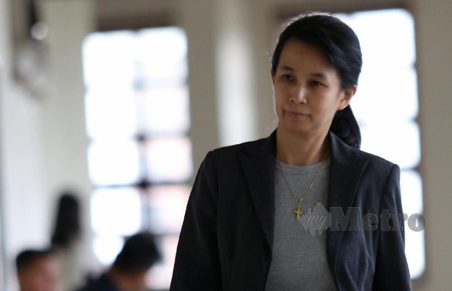 JOAANA Yu ketika hadir perbicaraan Najib di Mahkamah Tinggi Kuala Lumpur membabitkan penyelewengan dana SRC International, hari ini. FOTO Zunnur Al Shafiq.
