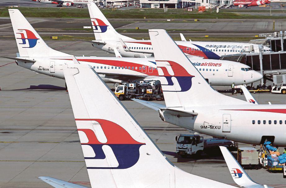 SEPANG 10 JULAI 2019. Tinjauan pesawat Malaysia Airlines di Lapangan Terbang Antarabangsa Kuala Lumpur (KLIA). NSTP/AHMAD IRHAM MOHD NOOR.