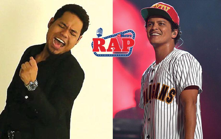 SYAMEL (kiri) mahu jadikan Bruno Mars sebagai ikon dalam bidang seni. FOTO/FAIL