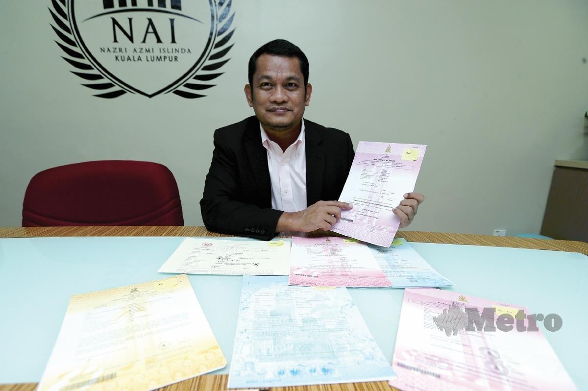 NAZRI menerangkan perbezaan status tanah dengan butiran dokumen atau paparan pada geran.