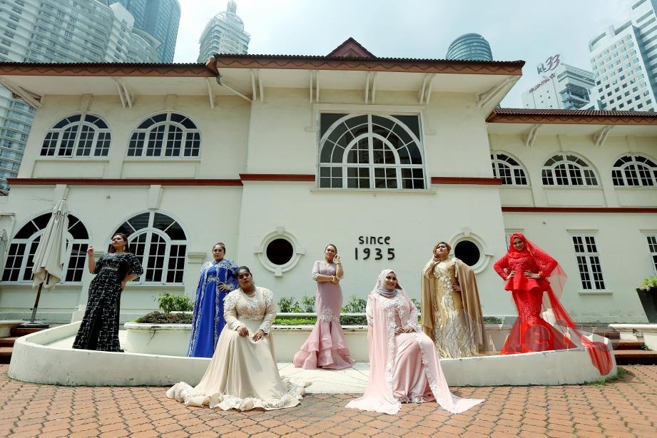 REKAAN gabungan moden dan tradisional dalam busana indah Muslimah, perkahwinan dan dres makan malam.