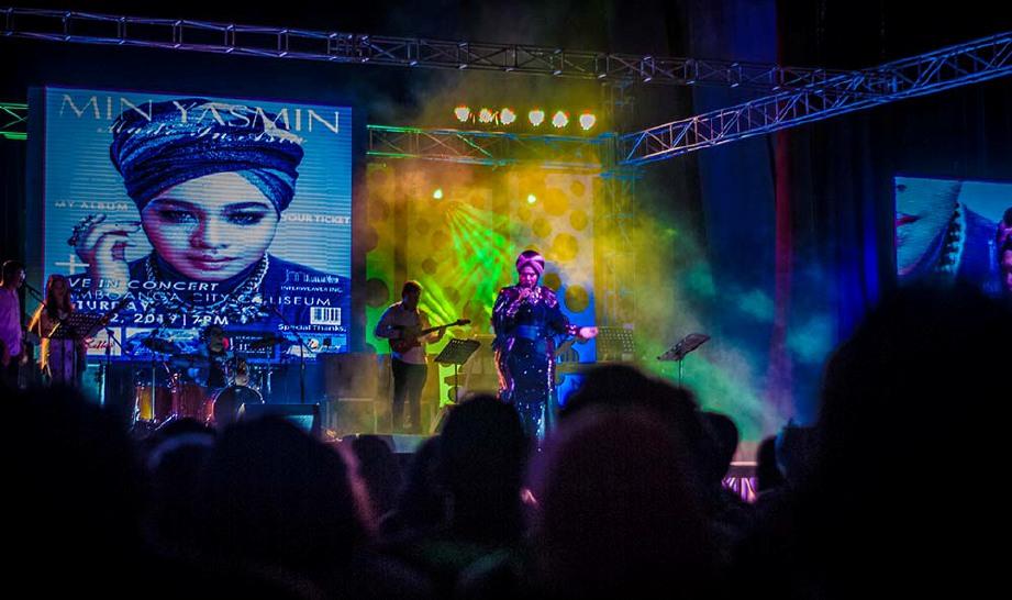 ANTARA momen menarik sepanjang konsert Min Yasmin. FOTO Min Yasmin dan Julfekar Entertainment
