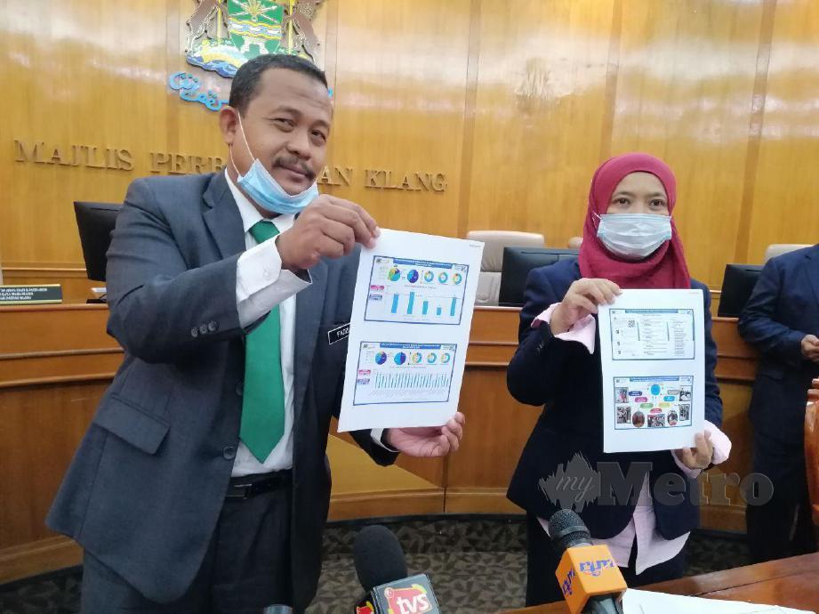 DR AHMAD Fadzli dan Elya Marini selepas sidang media di MPK. FOTO RUWAIDA MD ZAIN