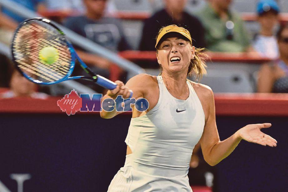 MARIA Sharapova antara bintang terkenal yang tidak diletakkan sebagai pilihan bagi kejohanan tenis WTA dan ATP Cincinnati Masters, minggu depan. Foto AFP