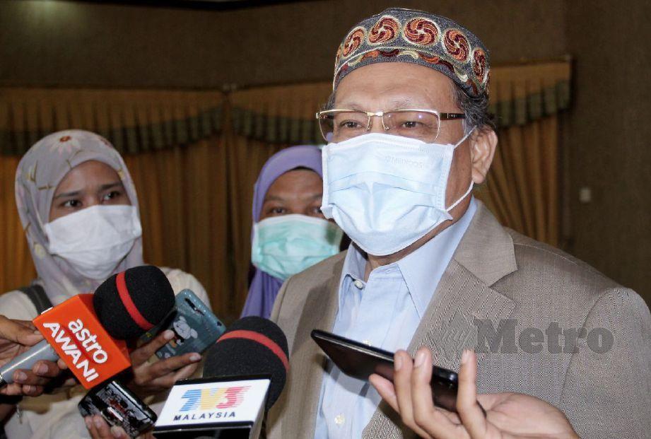 MOHD Amar ditemui selepas mesyuarat Exco Kerajaan Negeri di Kediaman Rasmi Menteri Besar Kelantan hari ini. FOTO NIK ABDULLAH NIK OMAR