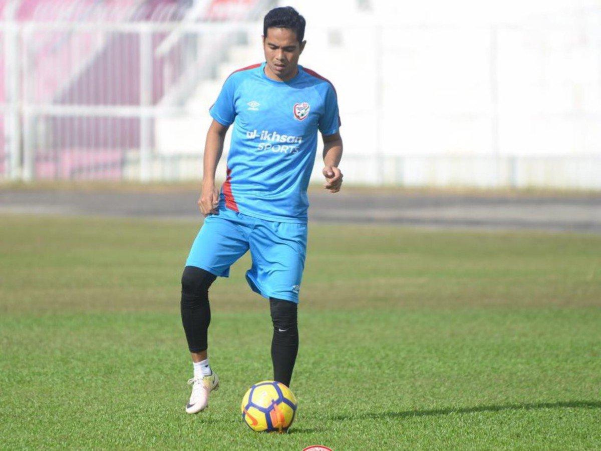 Mohd Fitri Omar ketika latihan pasukan. FOTO KUFC