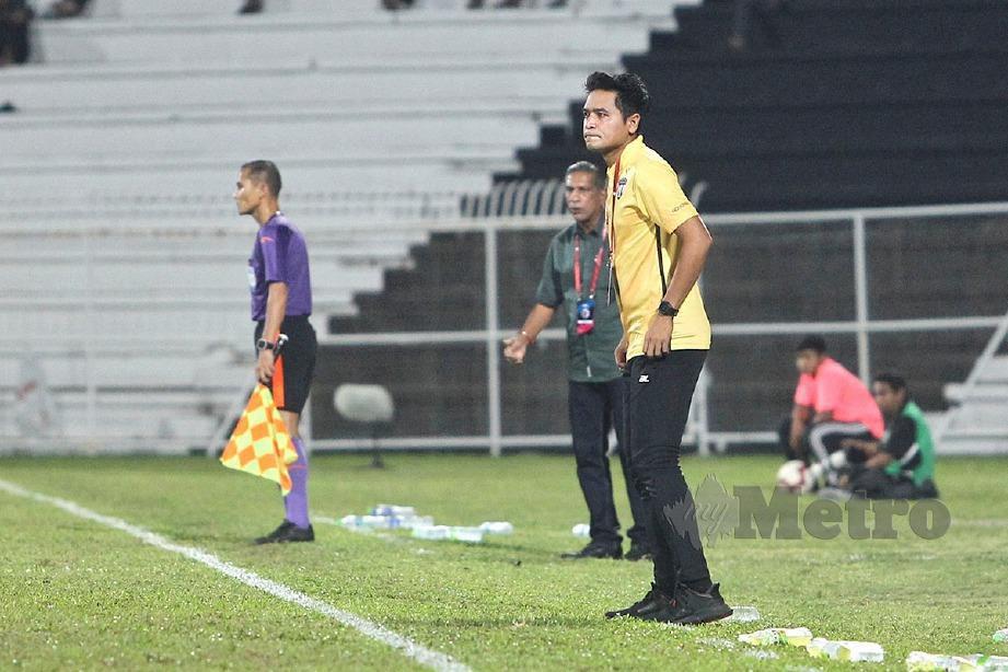 NAFUZI pada aksi Liga Super TFC menentang Selangor. FOTO Ghazali Kori