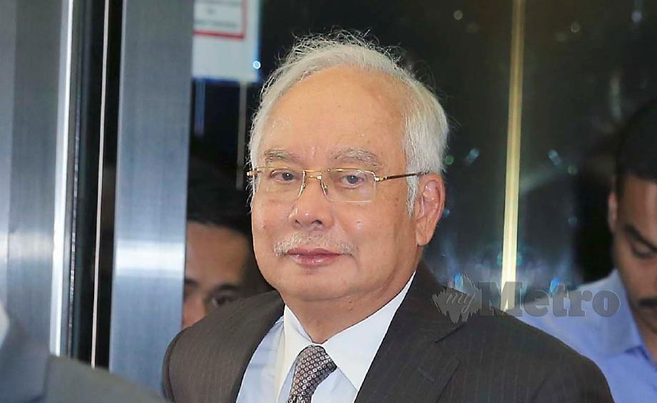 BEKAS Perdana Menteri, Datuk Seri Najib Razak hadir ke Mahkamah Tinggi Jenayah 3 bagi perbicaraan kes SRC International di Kompleks Mahkamah Kuala Lumpur. FOTO Mohd Yusni Ariffin