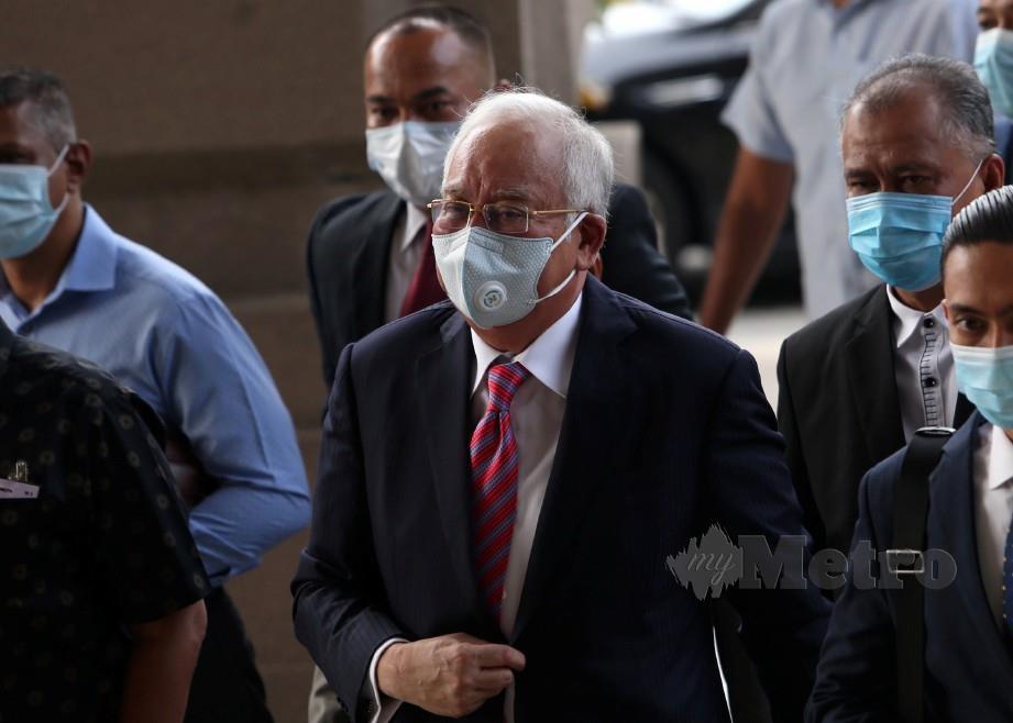 NAJIB hadir bagi perbicaraan kes 1MDB di Mahkamah Tinggi Kuala Lumpur. FOTO Mohamad Shahril Badri Saali.