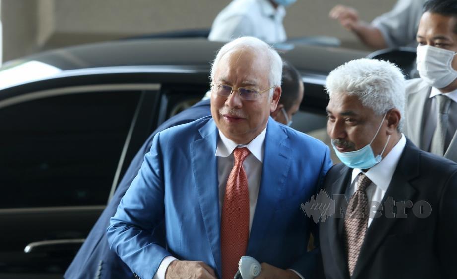 DATUK Seri Najib Razak hadir perbicaraan kes rasuah dan pengubahan wang haram 1MDB di Mahkamah Tinggi Kuala Lumpur. FOTO ROHANIS SHUKRI