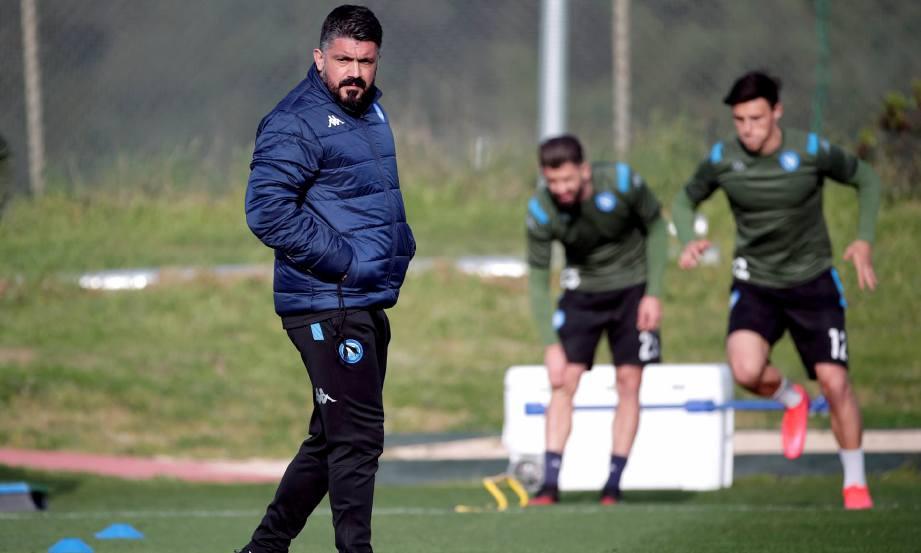 Napoli berada di kedudukan keenam dalam saingan Serie A dan kali terakhir mereka berlatih pada 12 Mac lalu. FOTO AGENSI