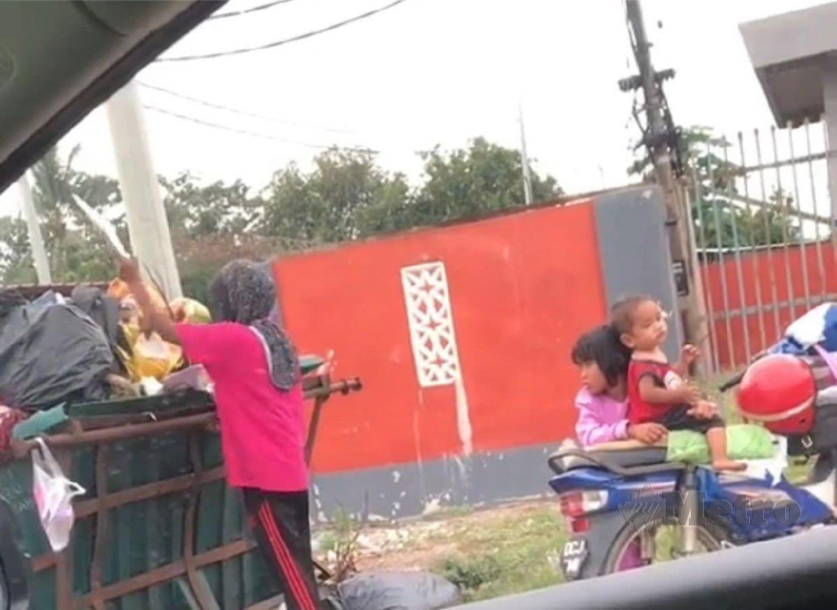 TANGKAP layar video yang dirakamkan Siti Noor Nadia. FOTO ihsan Siti Noor Nadia Zainal Abidin