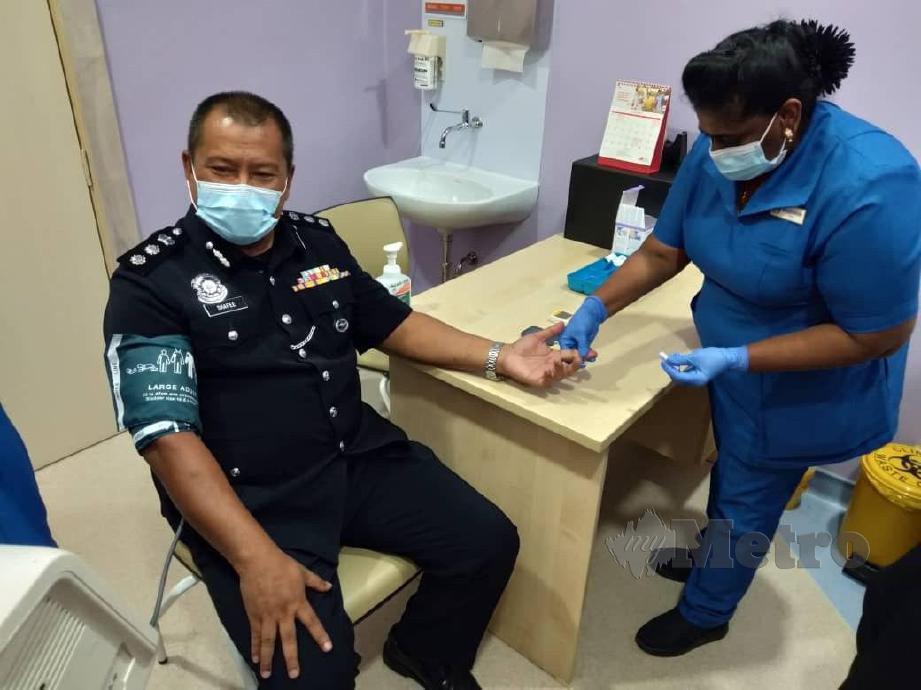 SHAFEE melakukan pemeriksaan kesihatan di Hospital Pakar KPJ Pulau Pinang. FOTO NUR Izzati Mohamad