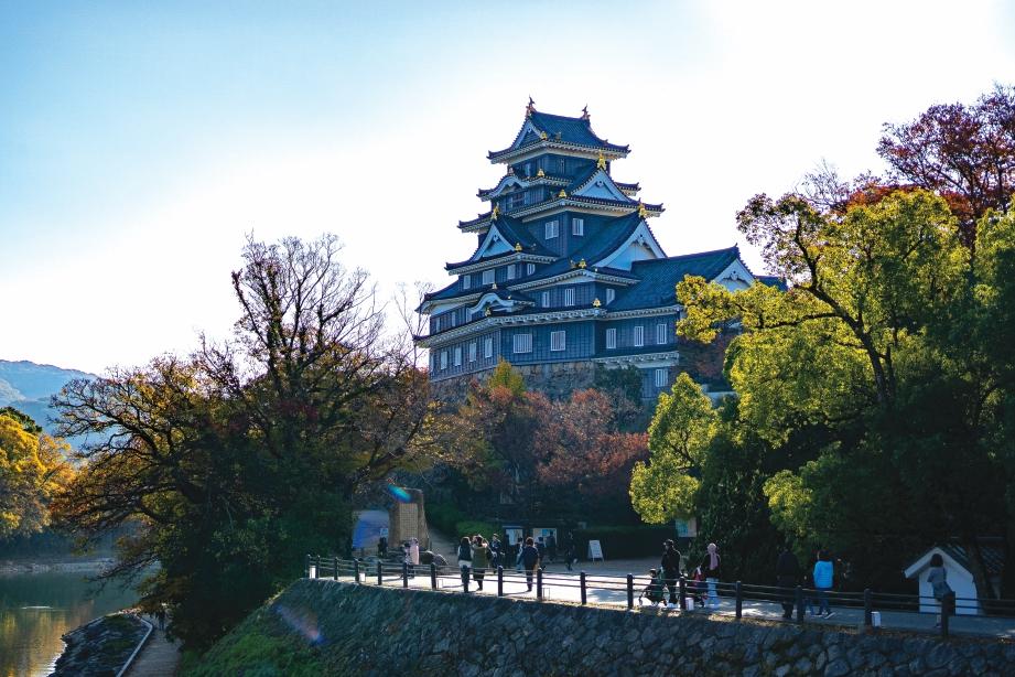 ISTANA Okayama antara destinasi yang wajib dilawati.