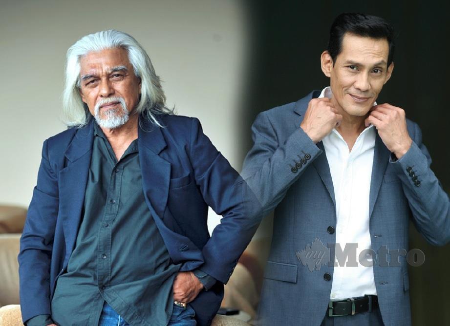 WAN Hanafi Su (kiri) dan Faizal Hussein masih lagi mewarnai industri seni.