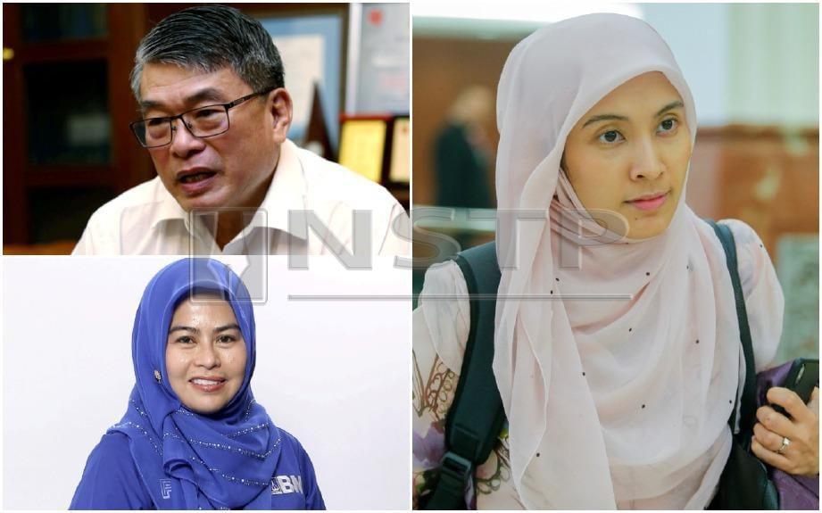 Nurul Izzah (kanan), Leong (kiri atas) dan Noraini yang baru dilantik menganggotai PAC.