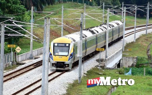 PERKHIDMATAN Tren Elektrik (ETS). FOTO arkib NSTP