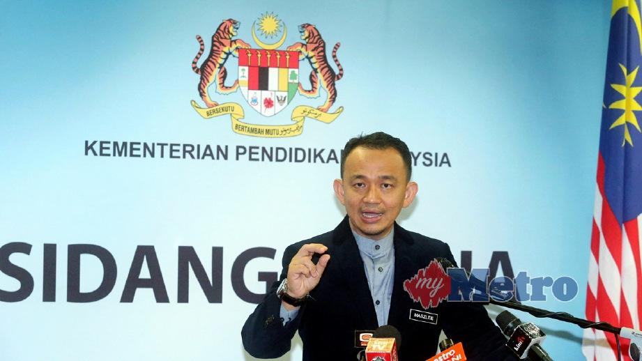MASZLEE ketika sidang media di Putrajaya. FOTO Mohd Fadli Hamzah