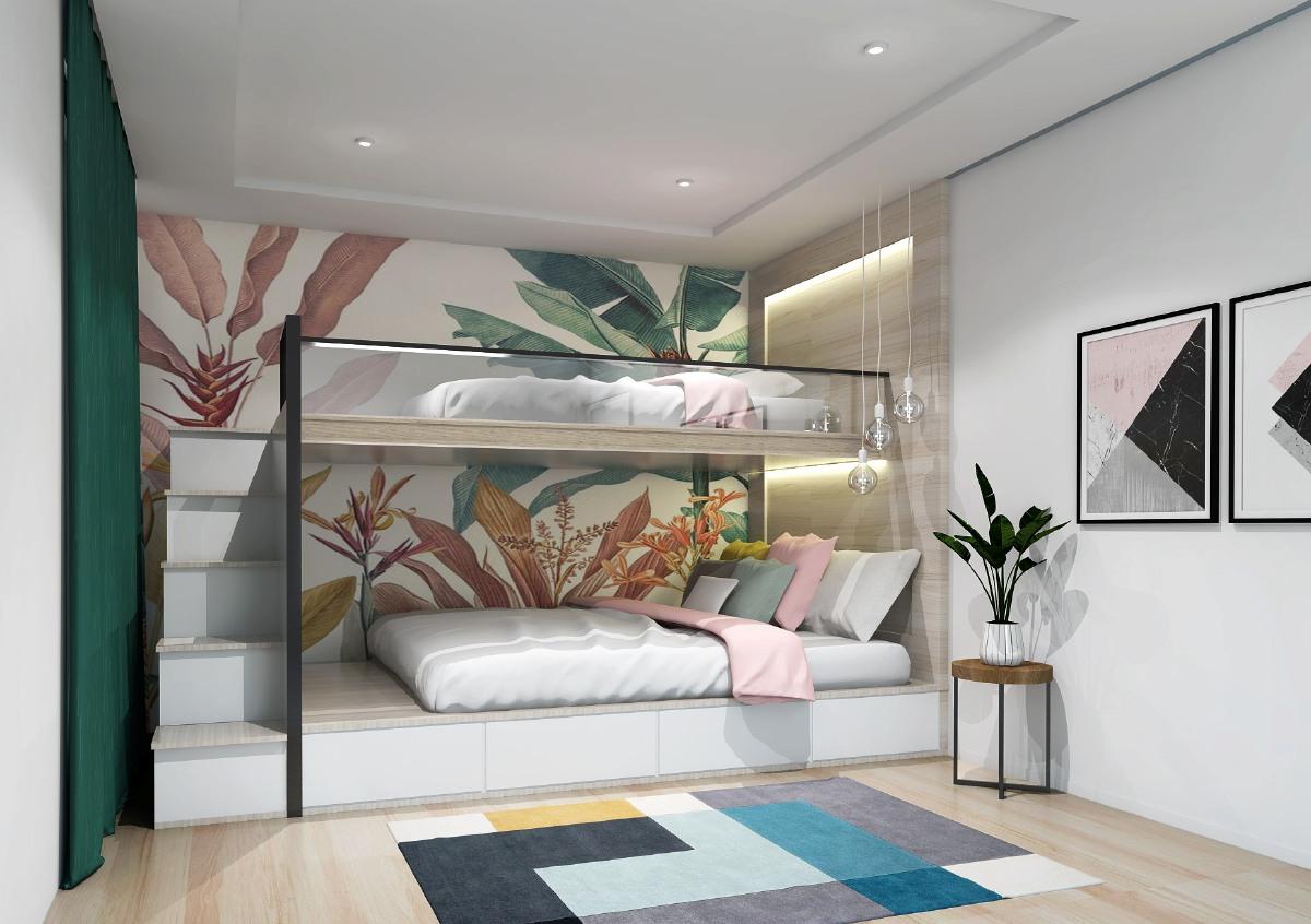 BILIK tidur antara ruang yang perlu diberi keutamaan untuk dekorasi.