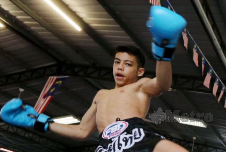 Mohammad Rifdean atlet Muay Thai yang kini di ranking nombor satu dunia bagi kategori 46 kg. FOTO NSTP