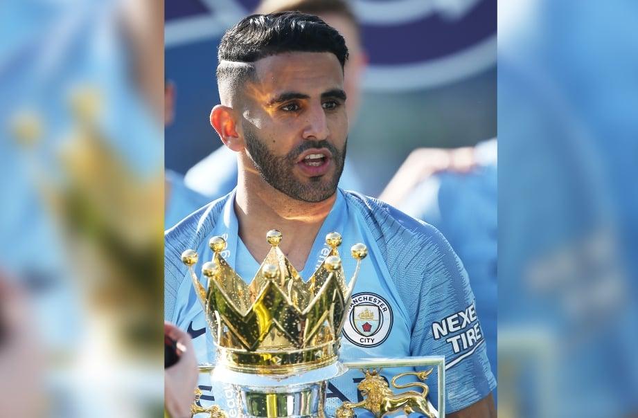 MAHREZ menjadi pemain kedua termahal kelab Manchester City tahun lalu pada harga 60 juta pound (RM324.3  juta). FOTO EPA