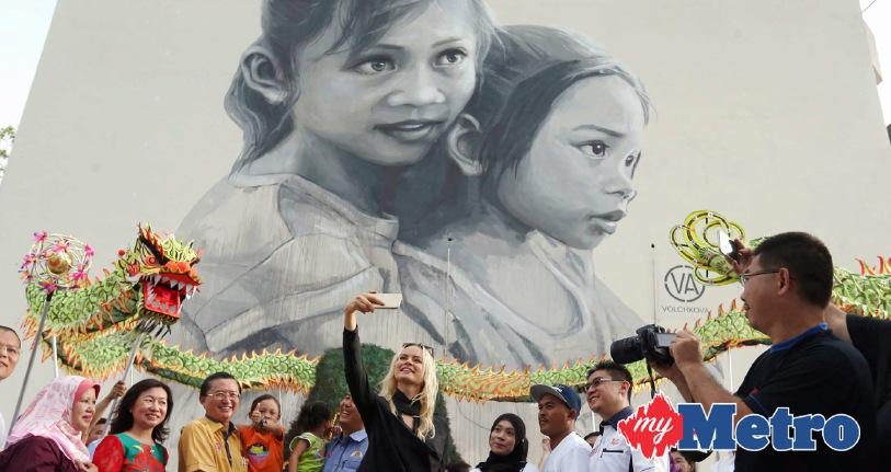 Mural terbesar di malaysia harian metro for Mural 1 malaysia