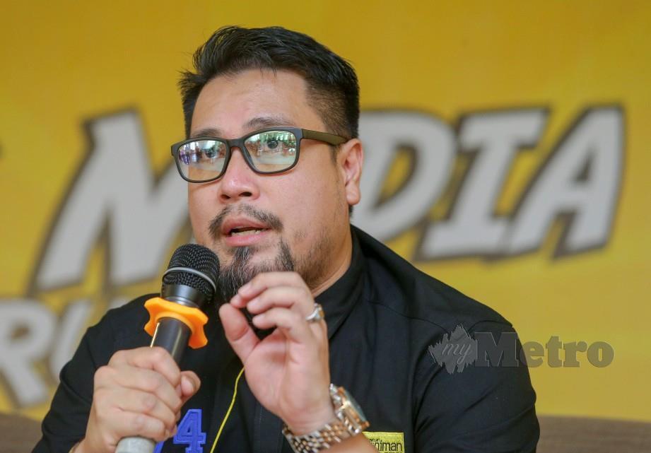 Zed Zaidi ketika Sidang Media. FOTO NSTP