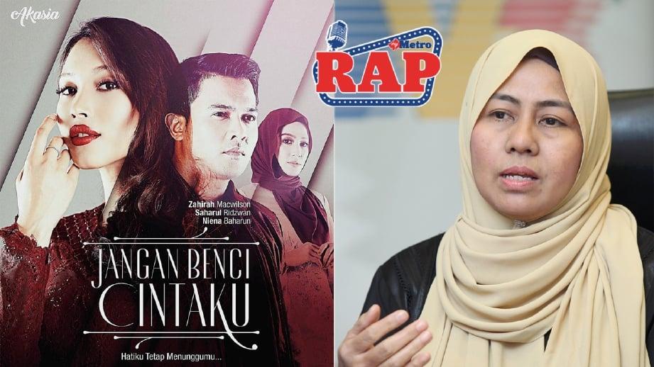 Siti Nurlisia gembira dengan pencapaian drama episod Jangan Benci Cintaku. FOTO fail HM