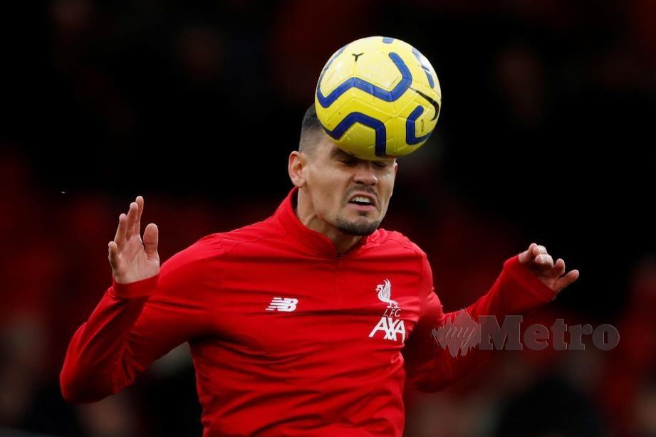 LOVREN cedera ketika menentang Bournemouth. FOTO Reuters