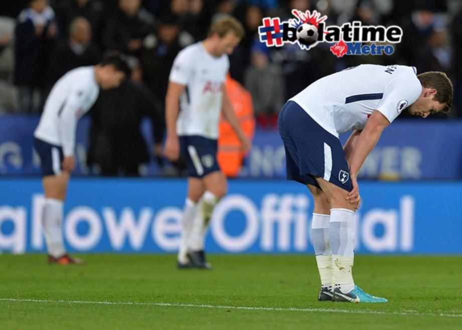 PEMAIN Spurs lesu selepas tewas kepada Foxes.