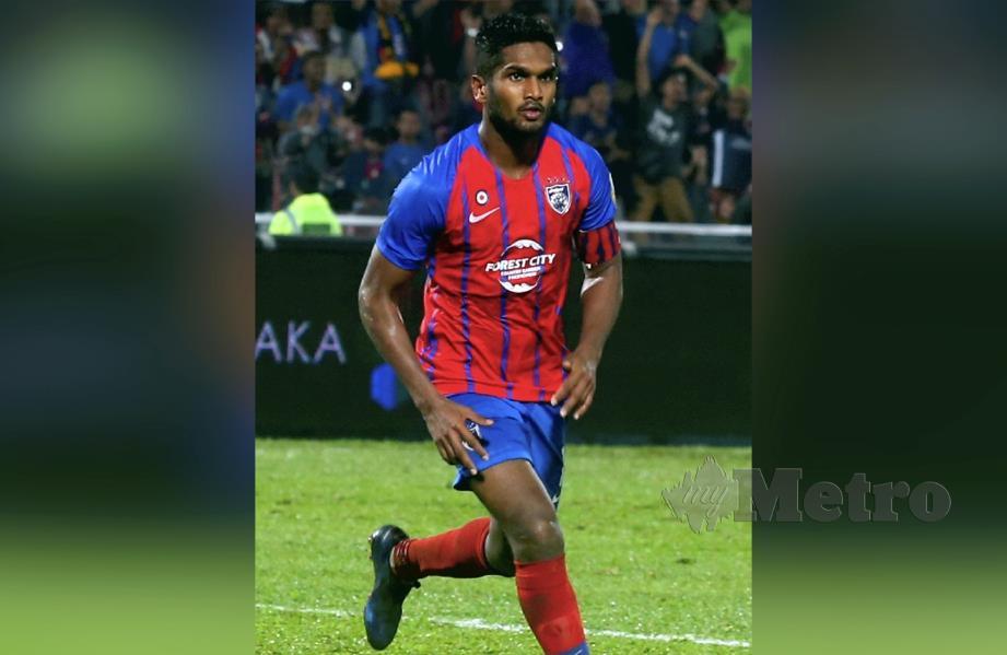 Hariss Harun ketika beraksi dalam perlawanan Liga Super 2019 di Stadium Tan Sri Hassan Yunos, Larkin, Johor Bahru. FOTO File NSTP
