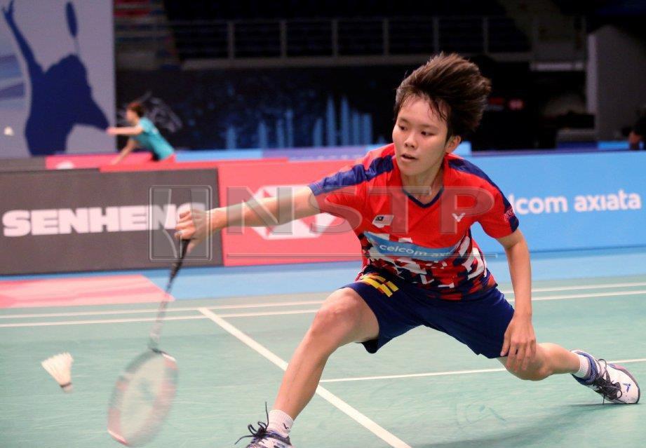 Jin Wei mara ke peringkat separuh akhir Kejohanan Badminton Kebangsaan di Ipoh.